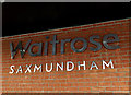 TM3863 : Waitrose Supermarket sign by Adrian Cable