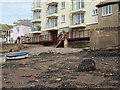 SX9372 : Walkway along river frontage of Morgans Quay flats, Strand, Teignmouth by Robin Stott