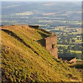 SO5977 : Quarry building, Clee Hill by Richard Webb