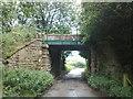 SJ7948 : Bridge carrying former railway over farm track by Jonathan Hutchins