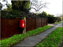 TM4557 : Saxmundham Road Postbox by Adrian Cable