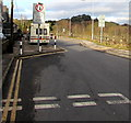 ST2999 : Give way to oncoming vehicles, Stafford Road, Griffithstown, Pontypool by Jaggery