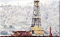 J3676 : Oil rig and snow, Belfast (January 2015) by Albert Bridge