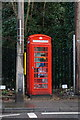 SK3545 : Former telephone kiosk on the A6 at Milford by Ian S