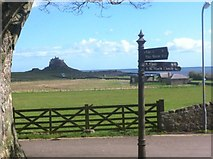 NU1341 : View of Lindisfarne Castle by Darrin Antrobus