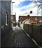 SJ8545 : Hartshill: alley between Ashwell Road and Riseley Road by Jonathan Hutchins