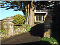 SX9574 : Gate pillars, 35 Windward Lane, Holcombe by Robin Stott