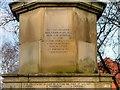 SD8500 : Collyhurst War Memorial (3/7 - Dedication on South Face) by David Dixon