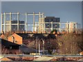 SJ8198 : Salford Gasholders by David Dixon