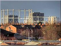 SJ8198 : Salford Gasholders by David Dixon