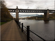 NZ2463 : The River Tyne and its bridges by Anthony Foster