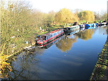 TQ1683 : Grand Union Canal from a bridge by Peter S