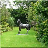 SJ6651 : Horse at Stapeley Water Gardens by Gerald England