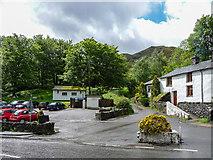 NY3915 : White Lion Inn Carpark, Patterdale, Cumbria by Christine Matthews