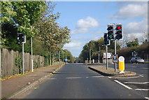 TG1807 : Traffic lights, Watton Rd by N Chadwick