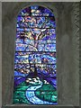 SP5203 : Stained Glass Window inside the Church of St Mary the Virgin, Iffley (1) by David Hillas