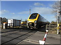 SO8947 : Level crossing at Pirton Siding by Chris Allen