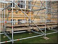SO8844 : Railway sleepers and scaffolding by Philip Halling