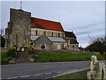 TQ1711 : Steyning: The Church of St Andrew and St Cuthman by Michael Garlick