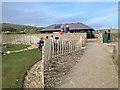 TV5596 : Garden to the rear of Birling Gap café by Robin Stott