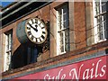 SO8455 : Clock in Worcester's Angel Place by Philip Halling