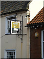 TM4656 : White Hart Inn Public House sign by Adrian Cable