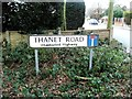 TQ8063 : Street nameplate, Thanet Road, Wigmore by Chris Whippet