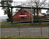 ST3091 : Vets behind a Malpas Road footbridge, Newport by Jaggery