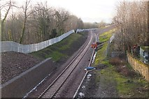 NT3461 : Borders Railway west of Gorebridge station by Jim Barton