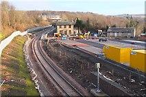 NT3461 : Gorebridge station under construction by Jim Barton