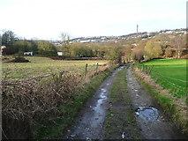 SE0722 : The Binn Royd track towards Calder Dale by Humphrey Bolton
