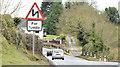 "J4263 : ""Double bends"" sign, Ballygowan (February 2015) by Albert Bridge"