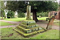 SJ4350 : Medieval Cross, St Edith's, Shocklach by Jeff Buck