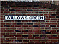 TM4657 : Willows Green sign by Adrian Cable