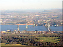 NT1279 : The Forth Road Bridge and Queensferry Crossing by M J Richardson