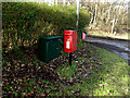 TM4460 : Fitches Lane Postbox by Adrian Cable