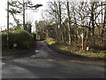 TM4460 : Fitches Lane and footpath by Adrian Cable