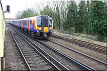 TQ0471 : Charter train waits east of Staines Station for service trains to pass by Roger Templeman