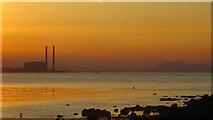 NT4377 : Sunset, Cockenzie power station by Richard Webb
