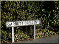 TM4461 : Garrett Crescent sign by Adrian Cable