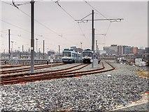 SJ8195 : Metrolink Old Trafford Depot by David Dixon