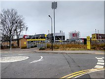 SJ8195 : Entrance to Old Trafford Metrolink Station by David Dixon