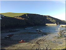 SW9980 : Port Isaac: harbour by Jonathan Hutchins