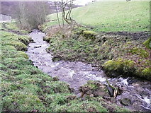SE0722 : Stepping stones upstream of ford on Elland FP01 by Humphrey Bolton