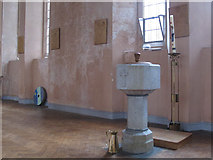 TQ4275 : St Barnabas church, Eltham: font by Stephen Craven