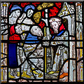 SE6051 : Acts of Mercy window, All Saints' church, North St. York by J.Hannan-Briggs