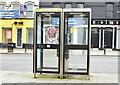 J3372 : Telephone boxes, University Road, Belfast (February 2015) by Albert Bridge