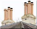 J3372 : Chimneys, Mount Charles, Belfast (February 2015) by Albert Bridge