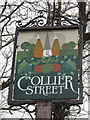 TQ7146 : Collier Street village sign by Oast House Archive