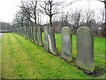 SJ7993 : Paupers' graves, Stretford Cemetery, from the north by Christine Johnstone